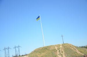 В Запорожье на Хортице торжественно подняли Государственный флаг Украины - ФОТО