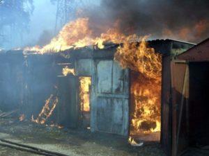 В Запорожской области ночью произошел пожар на территории частного дома