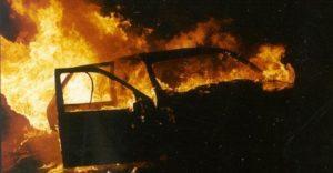 В Запорожской области на трассе дотла сгорела легковушка - ВИДЕО