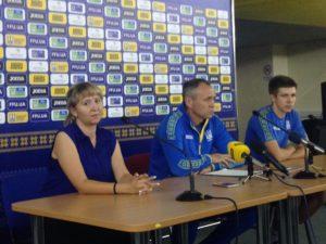 Главный тренер сборной Украины U21 Александр Головко: Рад, что Федерация позволила провести матч в Запорожье - ФОТО