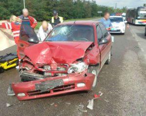 В Запорожье на Хортице столкнулись два авто