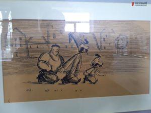 В художественном музее открылась выставка зарисовок культовых мультфильмов о запорожских казаках - ФОТО
