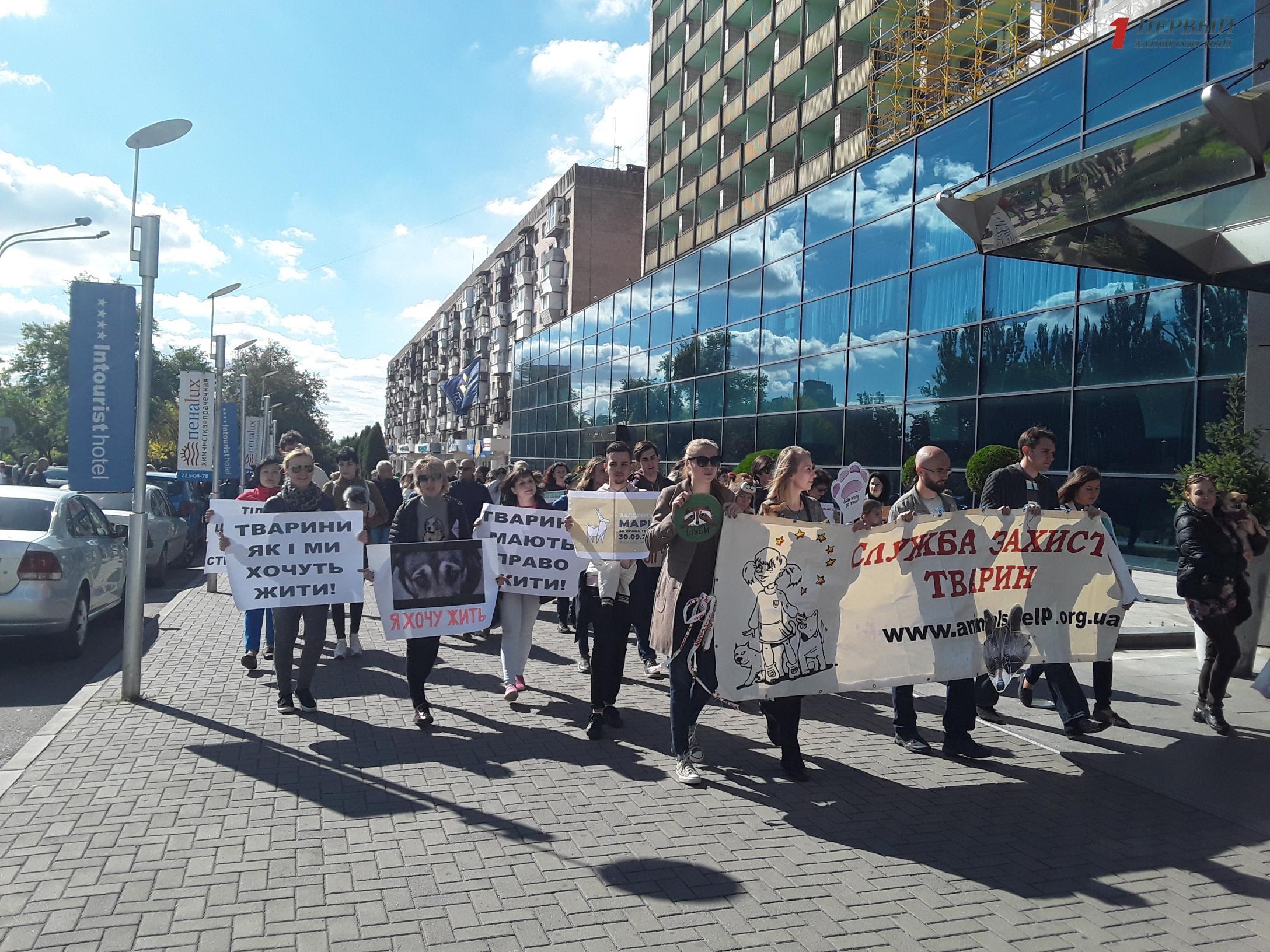 С лозунгами и плакатами: Запорожье присоединилось к Всеукраинскому маршу за права животных - ФОТО, ВИДЕО