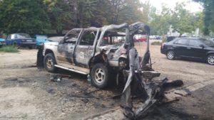 В Запорожье неизвестные ночью подожгли волонтерский автомобиль – ФОТО