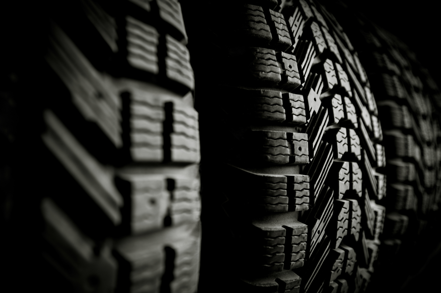 Tire in car service
