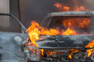 В Запорожье на Набережной загорелась