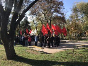 Ректор запорожского ВУЗа посетил митинг по случаю столетия комсомола - ФОТО