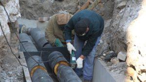 В Александровском районе Запорожья идет строительство нового теплового узла