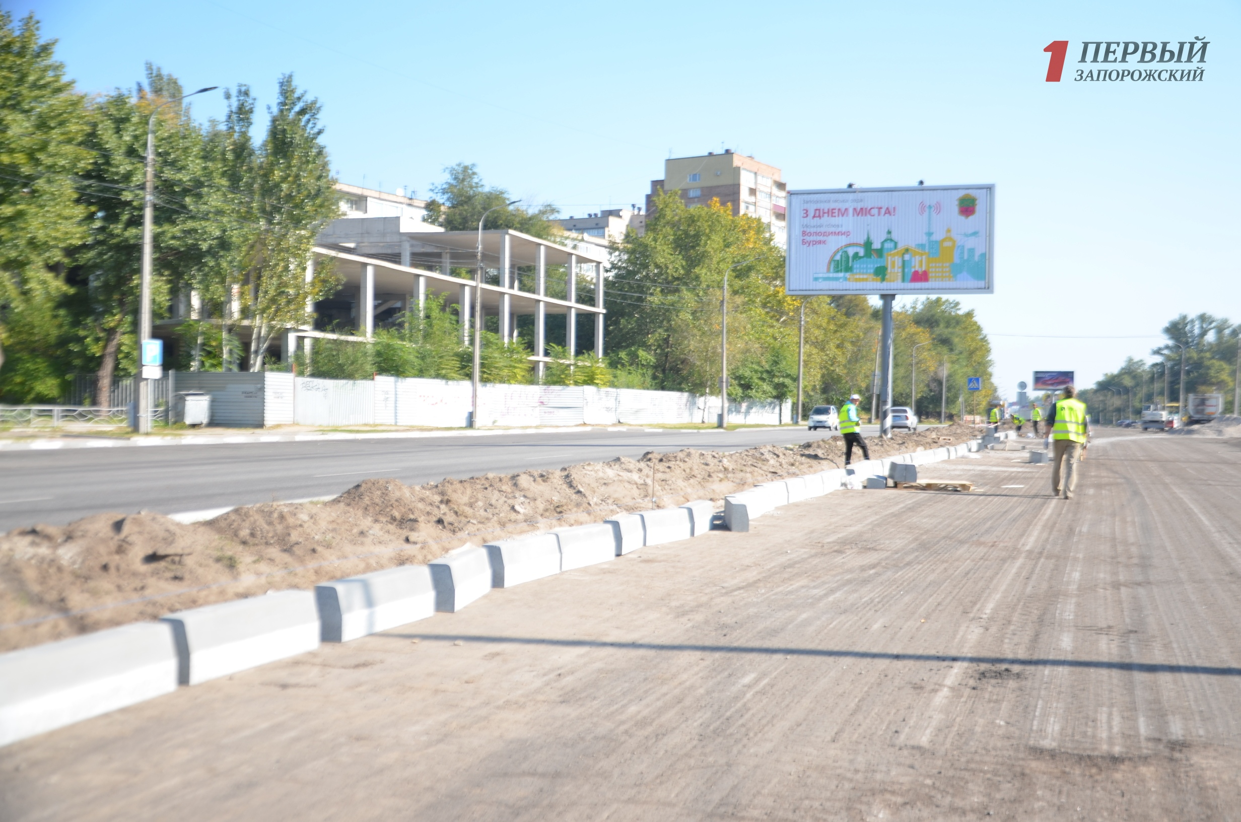 В Запорожье турки активно ремонтируют дорогу на Набережной магистрали за 20 миллионов гривен - ФОТО