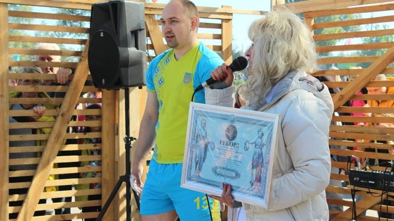 Житель Запорожья установил Национальный рекорд Украины - ФОТО