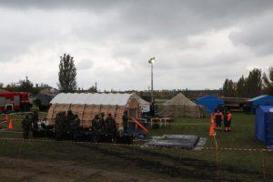 В Запорожской области прошли учения, посвященные отработке действий при возникновении аварии на ЗАЭС