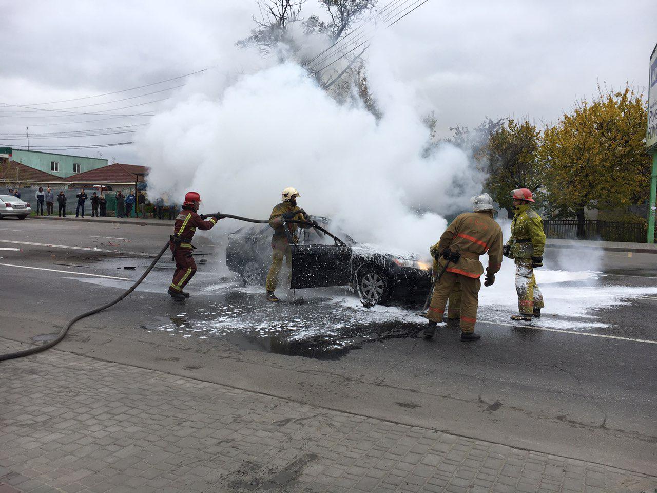 В Запорожской области взорвался автомобиль с газовым баллоном - ФОТО, ВИДЕО