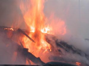 В Запорожье ночью случился пожар в жилом доме