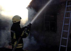 В Запорожье восемь спасателей тушили пожар на территории частного дома - ФОТО