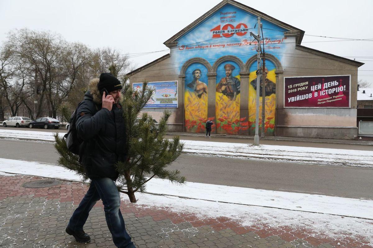 В Запорожье открыли новый мурал в честь столетия украинской революции - ФОТО