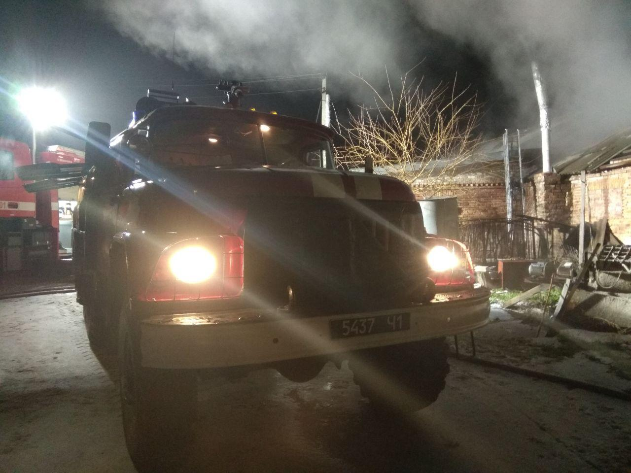 В Запорожском районе горела хозпостройка: пожарные спасли поголовье свиней и индюков - ФОТО