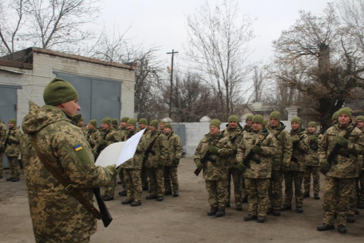 В Запорожской области военнослужащие присягнули на верность украинскому народу - ФОТО