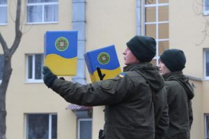 Запорожские гвардейцы приняли присягу на верность украинскому народу - ФОТО