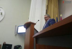 Прокурор области Валерий Романов перед началом сессии огласил подозрение запорожскому депутату - ФОТО, ВИДЕО