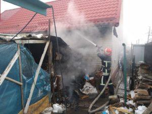 В Запорожской области сгорела надворная хозпостройка - ФОТО