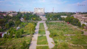 В Запорожье ТРЦ Кальцева изначально планировали сделать подземным и с сохранением сквера с деревьями