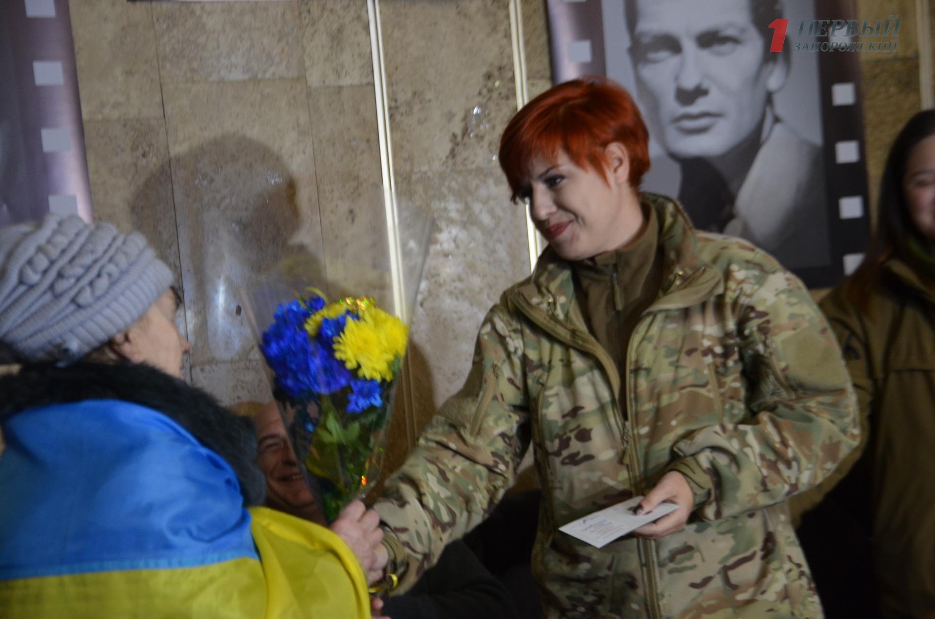 В Запорожье состоялся показ документального фильма о войне глазами женщин «Невидимый батальон» - ФОТО, ВИДЕО