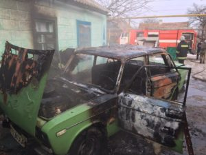 В Запорожской области во дворе дома сгорел