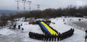 В Запорожье военнослужащие провели флешмоб в поддержку пленных моряков - ФОТО