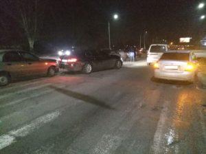 В Запорожье столкнулись сразу шесть автомобилей: трое водителей остались без прав – ФОТО