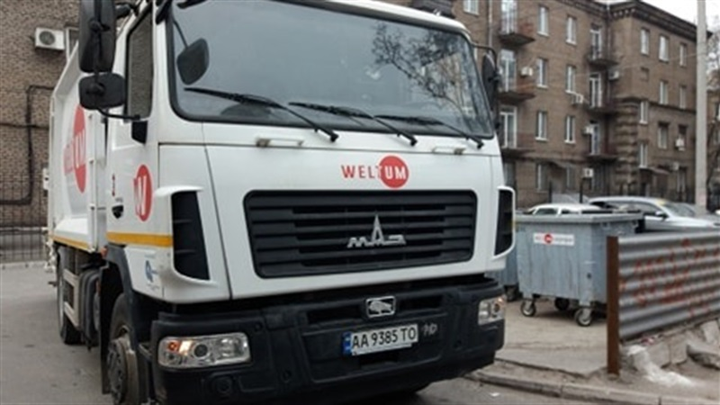 В Вознесеновском районе Запорожья заработал мусоровоз с видеомониторингом