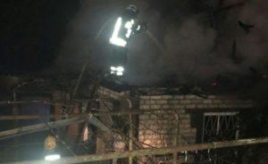 В Запорожской области горел дачный дом - ФОТО
