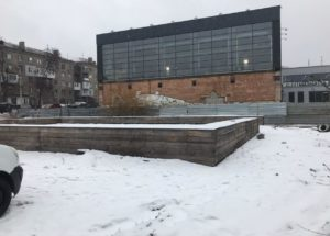 В Запорожье хотят соорудить каток на месте фонтана перед ДК «Орбита»
