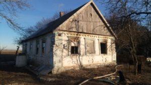 В Запорожской области горел одноэтажный жилой дом - ФОТО