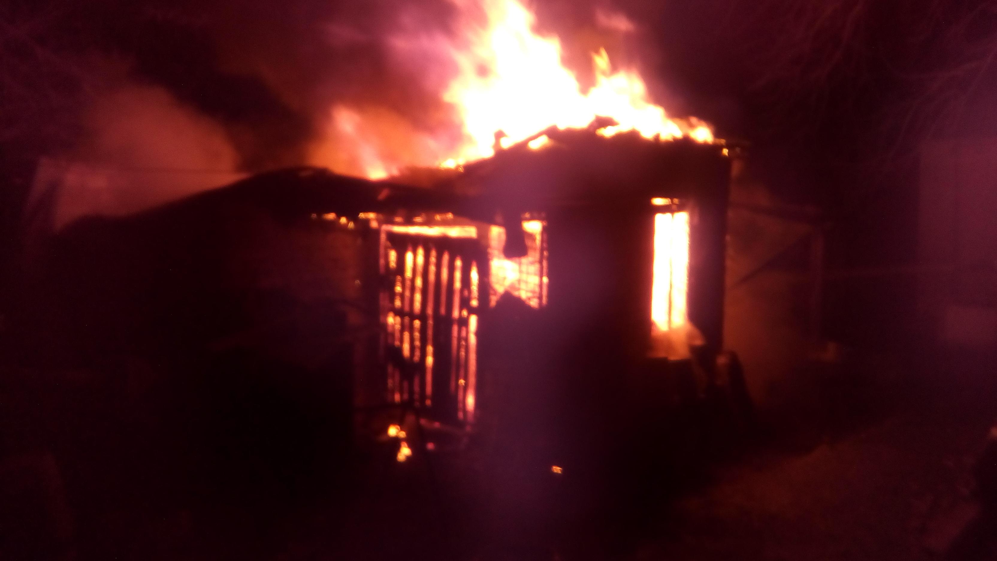 В Запорожской области дотла сгорела хозяйственная постройка - ФОТО