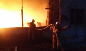 В Запорожской области на частном предприятии горел склад с топливными брикетами - ФОТО