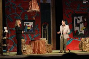 Валерий Николаев и Настя Задорожная показали запорожцам спектакль-мелодраму «Ночь ее откровений» - ФОТО