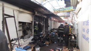 Появилось видео с места пожара на Центральном рынке в Запорожье - ВИДЕО