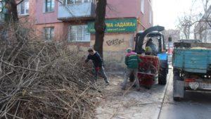 В Александровском районе Запорожья проводят уборку территории: утилизируют 600 тонн веток - ФОТО