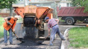 В Хортицком районе Запорожья ведется ремонт внутриквартальных дорог - ФОТО