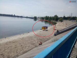 В Запорожье на Правобережном пляже обнаружили труп - ФОТО