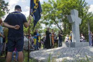 В Запорожье на острове Хортица открыли монумент «Борцам за волю Украины» - ФОТО