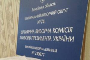 Три виборчі комісії в Запорізькій області не вийшли на роботу з невідомих причин