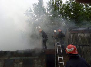 В Запорожской области тушили пожар на территории частного дома - ФОТО