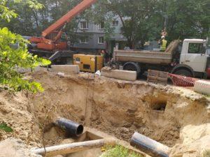 В Днепровском районе Запорожья завершают строительство нового водопровода - ФОТО