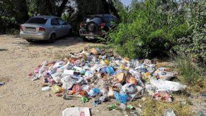 У Запоріжжі один з малих пляжів «потопає» у смітті - ФОТО