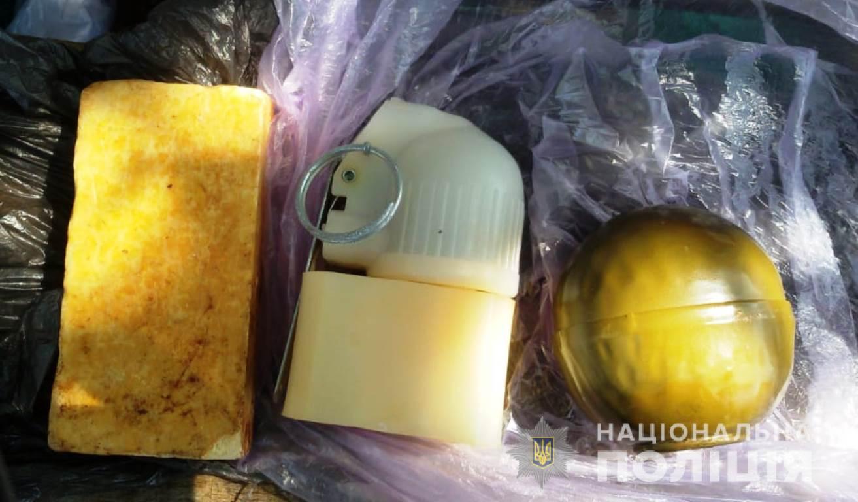 У жителя Запорожской области обнаружили гранату, тротиловую шашку и взрыватель - ФОТО