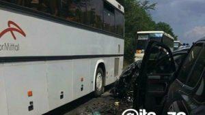 Под Запорожьем произошла серьезная авария на трассе: в ДТП попала колонна с автобусами,где ехали  дети  – ФОТО