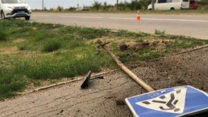 В Бердянске на пешеходном переходе сбили человека