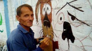 Петрик П'яточкін та «Жив-був пес»: запорізький художник розмальовує стіни на Каховській, – ФОТО