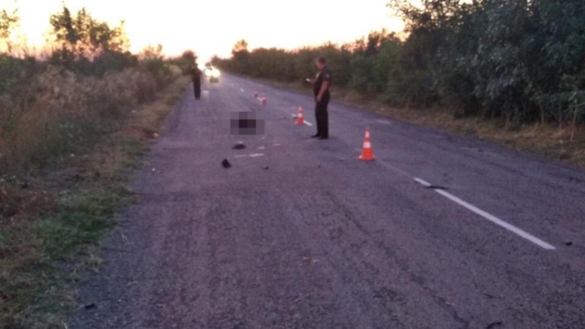 На Запоріжжі водій на смерть збив пішохода і зник з місця ДТП: поліція розшукує свідків, – ФОТО